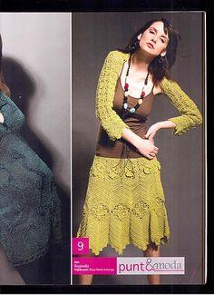 Crochetemoda: Crochet - Saia e bolero