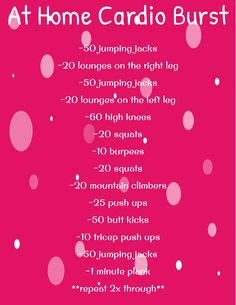 At home cardio blast workout