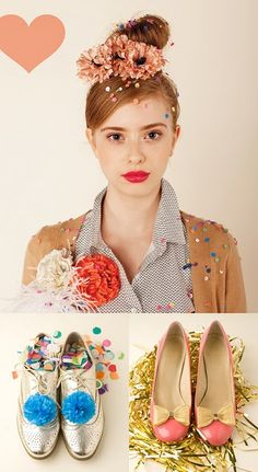 confetti and shiny shoes, alright.