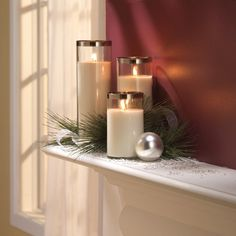 Pretty candle deco