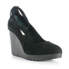 Decollete-Max-Bianco-scarpa-Donna-con-zeppa-e-plateau-in-pelle-scamosciata