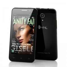ThL Inch Android Phone featuring a Quad Core processor, Internal Memory and an Rear Camera makes this a great wholesale choice Pc Android, Latest Android, Android Phones, Quad, Telephone Smartphone, Bluetooth, Black Highlights, Black And White, Mobile Phones