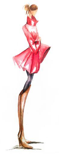 Fashion Girl Illustration #drawing #sketch #design