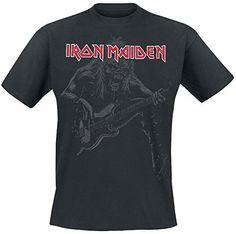 Iron Maiden Eddie Bass Camiseta Negro #regalo #arte #geek #camiseta