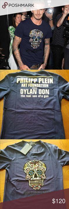 8064c5c512a28 Men s Philipp Plein t-shirt. Size large Short sleeve, stretch , black color