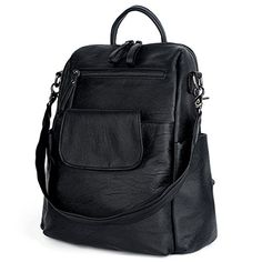 UTO Women Backpack Purse PU Washed Leather Ladies Rucksack Shoulder Bag -- Read more reviews of the product by visiting the link on the image.Note:It is affiliate link to Amazon.