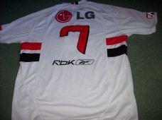 2006 Sao Paulo Adults Large #7 Mineiro Football Shirt Top Brazil Camiseta