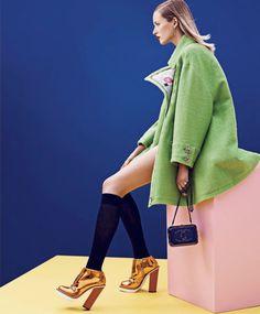 The Best and The BrightestPublication: Harper's Bazaar US September 2014 Model: Daria Strokous Photographer: Nathaniel Goldberg Fashion Editor: Tom Van Dorpe Hair: Marki Shkreli Make-up: Sally Branka