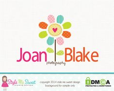 Premade Flower Logo Photography Logo Small by stylemesweetdesign, $40.00