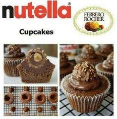 Cupcake de Nutella.