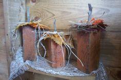 Set of 3 Rustic Wooden PumpkinsHandmade by ChantelMartinDesigns, $19.00