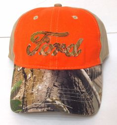 FORD CAMO HAT Orange&Brown Realtree Camouflage Relaxed-Fit Car/Truck Men/Women #Ford #BaseballCap