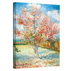 Add museum-worthy style to your dining room or master suite with this inspiring canvas print of Vincent van Gogh's Pink Peach Tree. ...
