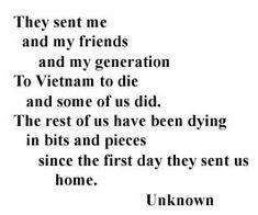Poem written by an unknown American solider during the Vietnam War.