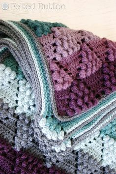 Ravelry: Vintage Vineyard Blanket pattern by Susan Carlson