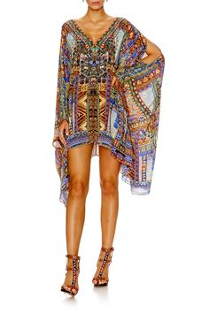 5233a8f95b1 GO YOUR OWN WAY SPLIT SHOULDER SHORT KAFTAN Camilla Clothing