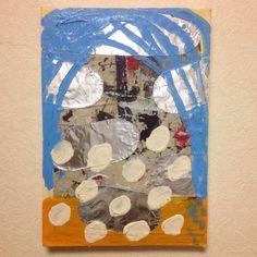 """Today's sky"" mixed media on canvas 2014 painted by mariko Murase"