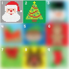 Crochet Christmas Tree Pixel Square