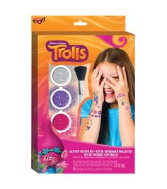 Dreamworks Trolls Glitter Tattoo Kit