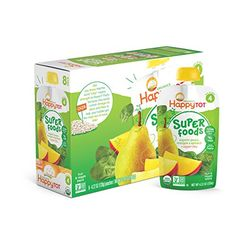 Happy Tot Organics Super Foods, Pears, Mangos and Spinach   Super Chia, 4.22-oz. Pouches (Pack of…