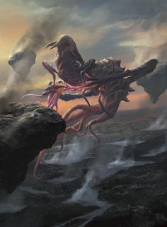Tagged with Gaming, mythical creatures; Magic The Gathering, Eldrazi Fantasy Monster, Monster Art, Alien Creatures, Fantasy Creatures, Magic The Gathering, Dark Fantasy, Fantasy Art, Aliens, Alien Aesthetic