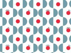 retro behang bird on ball vergrijsd blauw-rood | Tis Lifestyle: the official website