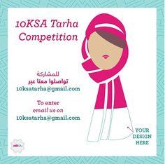 #Tarha #Competition: The winning design will be worn by the 10,000 Ladies standing shoulder-to-shoulder forming the #PinkRIbbon in #Saudi Arabia. #10Ksa #breastcancerawareness #riyadh