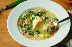 Grandma's Chicken Soup (Canja de Galinha)--an authentic Brazilain recipe that's full of flavor