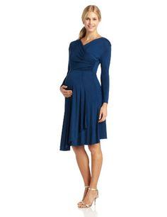 A Very Pretty Blue Formal Maternity Dress!