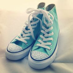 Beautiful mint green Sparkly converse Tiffany Blue Converse 7db281c77c