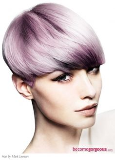 Blonde Hair and Purple Highlights