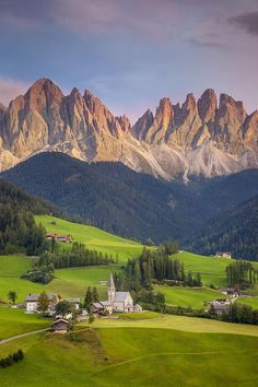 At the Dolomites in Italy.