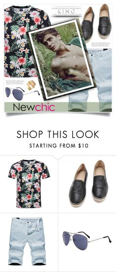 """Newchic 23"" by itsybitsy62 ❤ liked on Polyvore featuring Chanel, men's fashion and menswear"