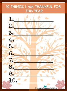 what I am thankful list...this would be great to  have for family to fill out on Thanksgiving day !