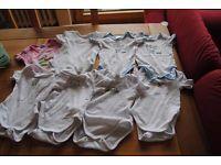 Zwillinge Frühchen Erstausstattung Strampler Bodies Alana Paket