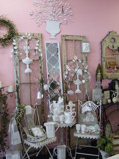 Finials Antiques window shop display Creative Shop Displays