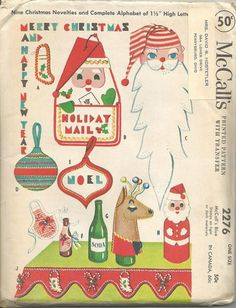1950s Christmas Crafts DIY Christmas Decor Bottle Covers Mail