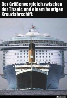 The size comparison between the Titanic and today's … – Funny Ideas Memes Humor, Funny Memes, Cool Pictures, Funny Pictures, Rms Titanic, Titanic Today, Retro Humor, Ohana, Really Funny