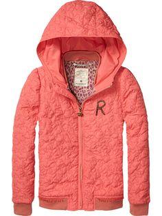 hooded nylon jacket | Jackets | Girls Clothing at Scotch & Soda
