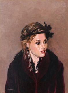 "Saatchi Art Artist Mircea Jumatate; Painting, ""Her Majesty the Flapper"" #art"
