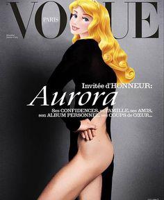 Aurora toda ousada na capa da Vogue