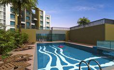 beautifull Swimming Pool at Pride Aashiyana visit on propertypointer.com