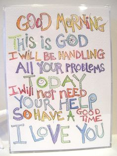 How to really let go and let God # please can it be my day ?
