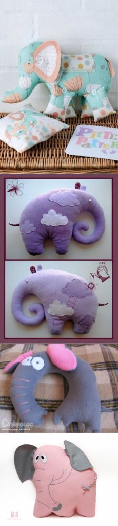 Sew a pillow-elephant - World of knitting and needlework