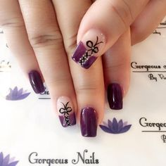 Purple-Corset-Nails-Design Tuxedo Nail Art and Beautiful Corset Nail Nail Art Tuxedo Nail