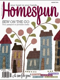 Photo: aug 2014 204 pages with templates bom happiness quilt part 7 Raw Edge Applique, Wool Applique, Applique Quilts, Patchwork Quilting, Dresden Plate Patterns, Quilt Patterns, Anni Downs, Sewing Magazines, Magazine Crafts