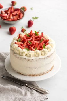 Chiffon cake aux fraises - Empreinte Sucrée