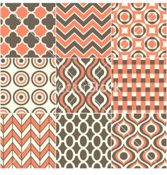 Retro seamless pattern vector 1379517 - by paul_june on VectorStock®