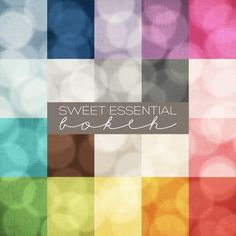 NEW ITEM! Sweet Essential Bokeh Digital Paper Collection | Prairie Sweet Boutique | 75% OFF through 1/30