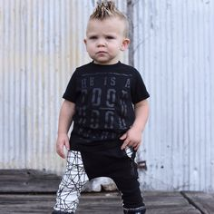 This little guy is killing it in our geo joggers!